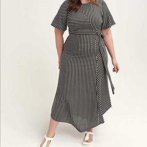 Lost Ink Striped Maxi Dress